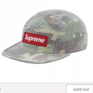 cf18b0bcf79 Supreme Accessories - New Supreme Camo Camp Cap Hat Washed Out Woodland
